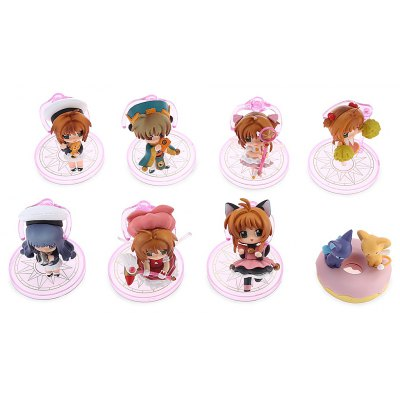 Collectible Animation Figurine Model for Decor - 8pcs / set