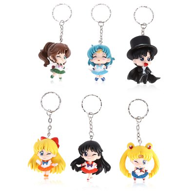 6pcs / set Alloy + PVC Key Chain Phone Wallet DecorationMovies &amp; TV Action Figures<br>6pcs / set Alloy + PVC Key Chain Phone Wallet Decoration<br><br>Design Style: Fashion<br>Gender: Unisex<br>Materials: PVC<br>Package Contents: 6 x Keyring<br>Package size: 20.00 x 14.00 x 3.00 cm / 7.87 x 5.51 x 1.18 inches<br>Package weight: 0.1500 kg<br>Stem From: Japan<br>Theme: Movie and TV