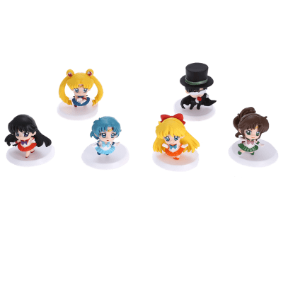Collectible Animation Figurine Model for Decor - 6pcs / set