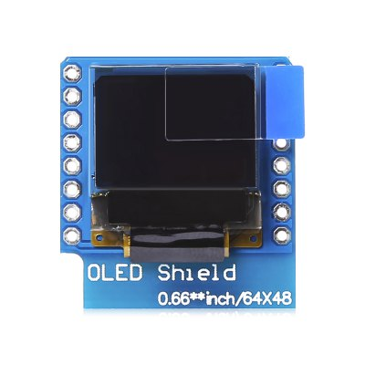 LDTR - WG0095 OLED Shield with 12C Display for D1 MiniLCD,LED Display Module<br>LDTR - WG0095 OLED Shield with 12C Display for D1 Mini<br><br>Architecture: Arduino<br>Model: LDTR - WG0095<br>Package Contents: 2 x Normal Pin, 1 x OLED Display Module, 1 x Mini Package Box<br>Package Size(L x W x H): 10.00 x 6.00 x 2.50 cm / 3.94 x 2.36 x 0.98 inches<br>Package weight: 0.0220 kg<br>PCB Size: 2.7 x 2.7 x 0.5cm<br>Pins: 5V<br>Product Size(L x W x H): 3.40 x 3.40 x 1.50 cm / 1.34 x 1.34 x 0.59 inches<br>Product weight: 0.0100 kg<br>Screen type: Led Display<br>Type: LED Dispaly Module