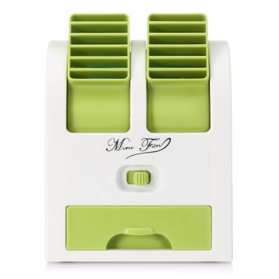 HB - 168 Mini USB Double-tuyere FanOther Home Improvement<br>HB - 168 Mini USB Double-tuyere Fan<br><br>Color: Blue,Green,Pink,Purple<br>Features: Bladeless, Portable, Space-saving<br>Material: ABS<br>Package Contents: 1 x Fan, 1 x USB Cable, 1 x Bag of Fragrance Ball<br>Package size (L x W x H): 13.00 x 15.70 x 12.30 cm / 5.12 x 6.18 x 4.84 inches<br>Package weight: 0.4550 kg<br>Product size (L x W x H): 13.50 x 12.50 x 10.80 cm / 5.31 x 4.92 x 4.25 inches<br>Product weight: 0.3700 kg<br>Type: Mini Fans, Cooling Fans<br>Voltage: 5V<br>Wattage: 2.5W