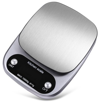 C305 Kitchen Food Milk ScaleOthers<br>C305 Kitchen Food Milk Scale<br><br>Material: Stainless Steel<br>Package Contents: 1 x Kitchen Scale, 3 x AAA Battery, 1 x English / Chinese User Manual<br>Package size (L x W x H): 22.20 x 18.20 x 4.60 cm / 8.74 x 7.17 x 1.81 inches<br>Package weight: 0.4790 kg<br>Product size (L x W x H): 21.20 x 15.70 x 3.00 cm / 8.35 x 6.18 x 1.18 inches<br>Product weight: 0.3640 kg<br>Type: Upright
