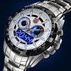 best Tvg 579 Male Dual Time LED Watch Military Outdoor Sports Luminous Wristwatch