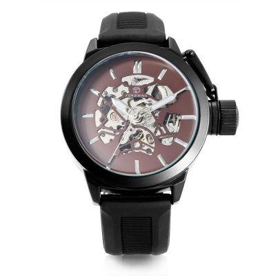 Forsining U8035 Men Auto Mechanical WatchMens Watches<br>Forsining U8035 Men Auto Mechanical Watch<br><br>Band material: Silicone<br>Band size: 26 x 1.8cm / 10.24 x 0.71 inches<br>Brand: Forsining<br>Case material: Alloy<br>Clasp type: Pin buckle<br>Dial size: 4.5 x 4.5 x 1.2cm / 1.77 x 1.77 x 0.47 inches<br>Display type: Analog<br>Movement type: Automatic mechanical watch<br>Package Contents: 1 x Watch<br>Package size (L x W x H): 27.00 x 5.50 x 2.20 cm / 10.63 x 2.17 x 0.87 inches<br>Package weight: 0.1280 kg<br>Product size (L x W x H): 26.00 x 4.50 x 1.20 cm / 10.24 x 1.77 x 0.47 inches<br>Product weight: 0.0970 kg<br>Shape of the dial: Round<br>Special features: Luminous<br>Watch color: Black, Blue, Brown, White,<br>Watch mirror: Mineral glass<br>Watch style: Business, Fashion<br>Watches categories: Male table<br>Water resistance : Life water resistant<br>Wearable length: 18 - 24cm / 7.09 - 9.45 inch