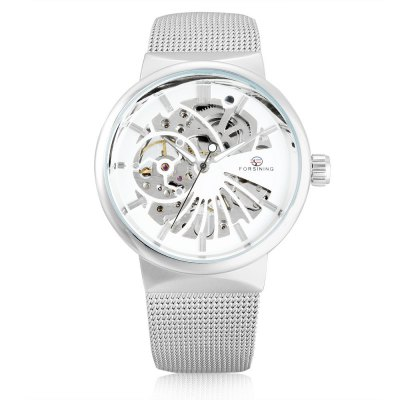 Forsining F162 Men Auto Mechanical WatchMens Watches<br>Forsining F162 Men Auto Mechanical Watch<br><br>Band material: Stainless Steel<br>Band size: 23 x 1.8cm / 9.06 x 0.71 inches<br>Brand: Forsining<br>Case material: Alloy<br>Clasp type: Sheet folding clasp<br>Dial size: 4 x 4 x 1cm / 1.57 x 1.57 x 0.39 inches<br>Display type: Analog<br>Movement type: Automatic mechanical watch<br>Package Contents: 1 x Watch<br>Package size (L x W x H): 12.00 x 5.00 x 2.00 cm / 4.72 x 1.97 x 0.79 inches<br>Package weight: 0.1060 kg<br>Product size (L x W x H): 23.00 x 4.00 x 1.00 cm / 9.06 x 1.57 x 0.39 inches<br>Product weight: 0.0750 kg<br>Shape of the dial: Round<br>Special features: Luminous<br>Watch color: Black and Golden, Golden, White and Golden, White+Black+Silver, Blue and White, Silver and White, Black, White and Black<br>Watch mirror: Mineral glass<br>Watch style: Business, Fashion<br>Watches categories: Male table<br>Water resistance : 30 meters