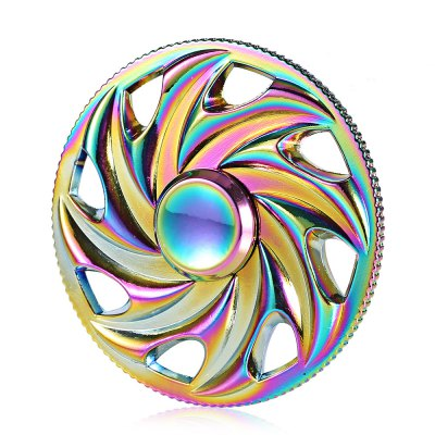 A8 Colorful Fire Wheel Style Zinc Alloy ADHD Fidget Spinner