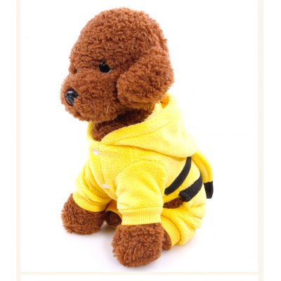 Funny Cartoon Pet Dog Clothes Puppy CostumeDog Clothing &amp; Shoes<br>Funny Cartoon Pet Dog Clothes Puppy Costume<br><br>Color: Yellow<br>Package Contents: 1 x Dog Costume<br>Package size (L x W x H): 28.00 x 24.00 x 5.00 cm / 11.02 x 9.45 x 1.97 inches<br>Package weight: 0.1680 kg<br>Product size (L x W x H): 26.00 x 22.00 x 3.00 cm / 10.24 x 8.66 x 1.18 inches<br>Product weight: 0.1180 kg<br>Size: L,M,S