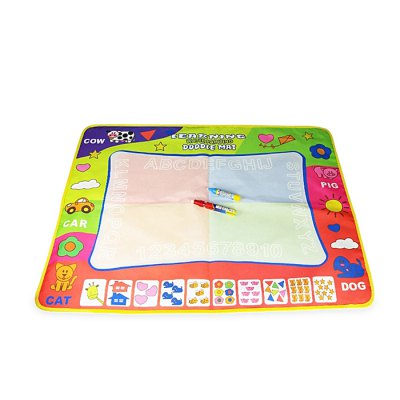 Kid Water Drawing Mat Doodle BoardOther Educational Toys<br>Kid Water Drawing Mat Doodle Board<br><br>Completeness: Finished Goods<br>Gender: Unisex<br>Materials: Other<br>Package Contents: 1 x Drawing Mat, 2 x Pen<br>Package size: 40.00 x 30.00 x 1.00 cm / 15.75 x 11.81 x 0.39 inches<br>Package weight: 0.1800 kg<br>Product size: 80.00 x 60.00 x 0.50 cm / 31.5 x 23.62 x 0.2 inches<br>Product weight: 0.1500 kg<br>Stem From: China
