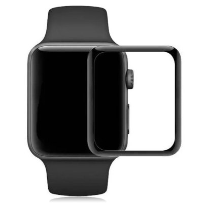 Full Screen Tempered Glass FilmApple Watch Screen Protectors<br>Full Screen Tempered Glass Film<br><br>Color: Black<br>Function: for Apple Watch 42mm<br>Material: Tempered Glass<br>Package Contents: 1 x Screen Film, 1 x Dust-absorber, 1 x Wet Wipes, 1 x Dry Wipes<br>Package size: 7.00 x 7.00 x 3.00 cm / 2.76 x 2.76 x 1.18 inches<br>Package weight: 0.0320 kg<br>Product size: 3.90 x 3.30 x 0.02 cm / 1.54 x 1.3 x 0.01 inches<br>Product weight: 0.0010 kg<br>Type: Screen Protector