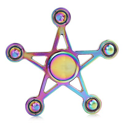 Five Star Rainbow Hand Fidget Spinner ADHD Focus ToyFidget Spinners<br>Five Star Rainbow Hand Fidget Spinner ADHD Focus Toy<br><br>Center Bearing Material: Stainless Steel Bearing<br>Color: Colorful<br>Features: Electroplated<br>Frame material: Zinc Alloy<br>Package Contents: 1 x Fidget Spinner, 1 x Fidget Spinner Box<br>Package size (L x W x H): 12.50 x 9.50 x 3.50 cm / 4.92 x 3.74 x 1.38 inches<br>Package weight: 0.1500 kg<br>Product size (L x W x H): 7.50 x 7.50 x 1.00 cm / 2.95 x 2.95 x 0.39 inches<br>Product weight: 0.0700 kg<br>Type: Rainbow, Polygon