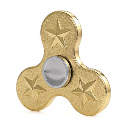 Cool Scrubbing Gold Fidget Spinner Five Star Focus Toy