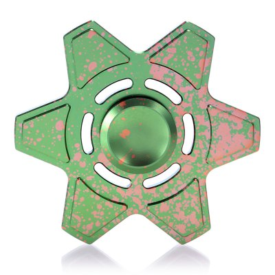 Star Style Hexagonal Fidget Spinner Zinc Alloy ADHD Focus ToyFidget Spinners<br>Star Style Hexagonal Fidget Spinner Zinc Alloy ADHD Focus Toy<br><br>Center Bearing Material: Stainless Steel Bearing<br>Color: Green<br>Frame material: Zinc Alloy<br>Package Contents: 1 x Fidget Spinner, 1 x Fidget Spinner Box<br>Package size (L x W x H): 10.00 x 10.00 x 3.00 cm / 3.94 x 3.94 x 1.18 inches<br>Package weight: 0.1000 kg<br>Product size (L x W x H): 7.00 x 7.00 x 1.00 cm / 2.76 x 2.76 x 0.39 inches<br>Product weight: 0.0380 kg<br>Type: Polygon
