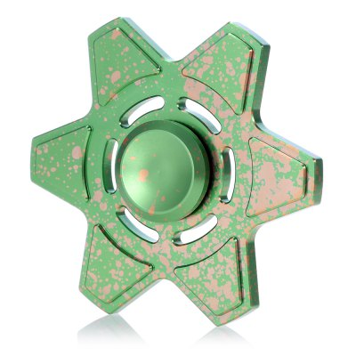 Star Style Hexagonal Fidget Spinner Zinc Alloy ADHD Focus Toy