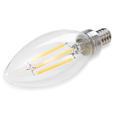 E12 4 x COB 3.5W 260 - 350LM Dimmable LED Filament LightGlobe bulbs<br>E12 4 x COB 3.5W 260 - 350LM Dimmable LED Filament Light<br><br>Angle: 360 degree<br>Available Light Color: Warm White,White<br>CCT/Wavelength: 2700K<br>Emitter Types: COB<br>Features: Low Power Consumption, Energy Saving, Dimmable, Long Life Expectancy<br>Function: Studio and Exhibition Lighting, Home Lighting, Commercial Lighting<br>Holder: E12<br>Lifespan: 30000 hours<br>Luminous Flux: 260 - 350LM<br>Output Power: 3.5W<br>Package Contents: 1 x LED Filament Bulb<br>Package size (L x W x H): 5.00 x 5.00 x 12.00 cm / 1.97 x 1.97 x 4.72 inches<br>Package weight: 0.0450 kg<br>Product size (L x W x H): 3.50 x 3.50 x 10.50 cm / 1.38 x 1.38 x 4.13 inches<br>Product weight: 0.0160 kg<br>Sheathing Material: Metal, Glass<br>Type: Filament Bulb<br>Voltage (V): AC 120V<br>Wattage Range: ?5W