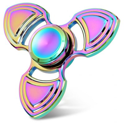 Tri-wing Electroplated Rainbow Fidget Spinner