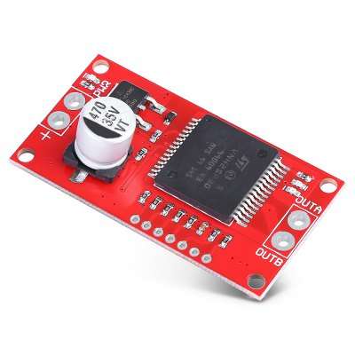 30A Single Channel Stepper Motor Driver ModuleOther Accessories<br>30A Single Channel Stepper Motor Driver Module<br><br>Architecture: Arduino<br>Color: Red<br>Mainly Compatible with: Arduino<br>Package Contents: 1 x Stepper Motor Driver Module, 1 x 7-pin Header<br>Package Size(L x W x H): 15.00 x 10.00 x 2.00 cm / 5.91 x 3.94 x 0.79 inches<br>Package weight: 0.0220 kg<br>PCB Size: 5.4 x 2.8 x 1.5cm<br>Pins: 5V,GND<br>Product Size(L x W x H): 5.40 x 2.80 x 1.50 cm / 2.13 x 1.1 x 0.59 inches<br>Product weight: 0.0095 kg<br>Type: Stepper motor driver module