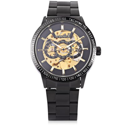 Winner H216M Men Auto Mechanical WatchMens Watches<br>Winner H216M Men Auto Mechanical Watch<br><br>Band material: Stainless Steel<br>Band size: 24 x 2cm / 9.45 x 0.79 inches<br>Brand: Winner<br>Case material: Alloy<br>Clasp type: Sheet folding clasp<br>Dial size: 4 x 4 x 1cm / 1.57 x 1.57 x 0.39 inches<br>Display type: Analog<br>Movement type: Automatic mechanical watch<br>Package Contents: 1 x Watch<br>Package size (L x W x H): 13.00 x 5.00 x 2.00 cm / 5.12 x 1.97 x 0.79 inches<br>Package weight: 0.1510 kg<br>Product size (L x W x H): 24.00 x 4.00 x 1.00 cm / 9.45 x 1.57 x 0.39 inches<br>Product weight: 0.1200 kg<br>Shape of the dial: Round<br>Special features: Luminous<br>Watch color: Black and Golden, Black<br>Watch mirror: Mineral glass<br>Watch style: Business, Fashion<br>Watches categories: Male table<br>Water resistance : Life water resistant