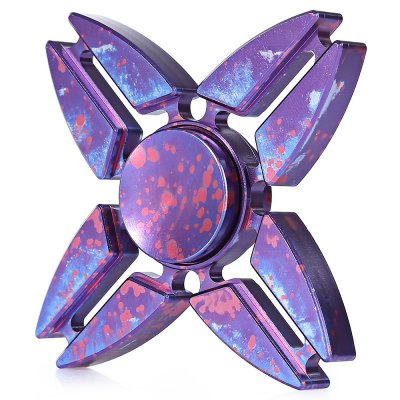 Four-leaf Starry Sky Aluminum Alloy Fidget Spinner