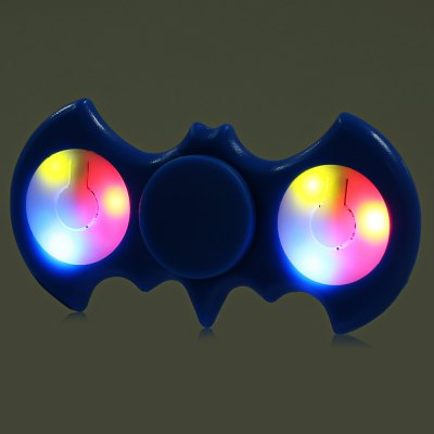 Multi-color Push Button LED Two-wing ABS Fidget SpinnerFidget Spinners<br>Multi-color Push Button LED Two-wing ABS Fidget Spinner<br><br>Color: Blue<br>Features: LED Light<br>Frame material: ABS<br>Package Contents: 1 x Fidget Spinner<br>Package size (L x W x H): 9.00 x 9.00 x 1.90 cm / 3.54 x 3.54 x 0.75 inches<br>Package weight: 0.0510 kg<br>Product size (L x W x H): 8.20 x 4.00 x 1.40 cm / 3.23 x 1.57 x 0.55 inches<br>Product weight: 0.0260 kg<br>Swing Numbers: 2<br>Type: Bat