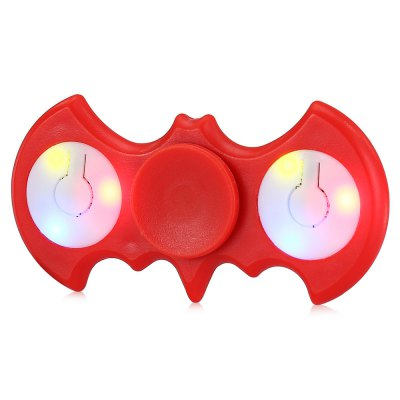 Multi-color Push Button LED Two-wing ABS Fidget Spinner