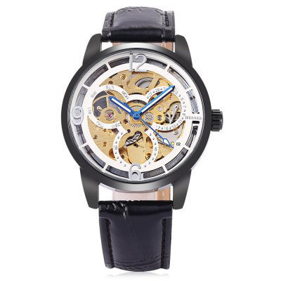 Winner H275M Men Auto Mechanical WatchMens Watches<br>Winner H275M Men Auto Mechanical Watch<br><br>Band material: Leather<br>Band size: 25.5 x 2cm / 10.04 x 0.79 inches<br>Brand: Winner<br>Case material: Alloy<br>Clasp type: Pin buckle<br>Dial size: 4.5 x 4.5 x 1cm / 1.77 x 1.77 x 0.39 inches<br>Display type: Analog<br>Movement type: Automatic mechanical watch<br>Package Contents: 1 x Watch<br>Package size (L x W x H): 26.50 x 5.50 x 2.00 cm / 10.43 x 2.17 x 0.79 inches<br>Package weight: 0.0940 kg<br>Product size (L x W x H): 25.50 x 4.50 x 1.00 cm / 10.04 x 1.77 x 0.39 inches<br>Product weight: 0.0630 kg<br>Shape of the dial: Round<br>Special features: Luminous<br>Watch mirror: Mineral glass<br>Watch style: Fashion, Business<br>Watches categories: Male table<br>Water resistance : Life water resistant<br>Wearable length: 19.00 - 24.00cm / 7.48 - 9.45 inches