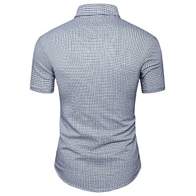 AOWOFS Short Sleeve Men\s Plaid ShirtsMens Shirts<br>AOWOFS Short Sleeve Men\s Plaid Shirts<br><br>Brand: AOWOFS<br>Color: Gray<br>Material: Cotton<br>Package Contents: 1 x AOWOFS Shirt<br>Package size: 40.00 x 30.00 x 2.00 cm / 15.75 x 11.81 x 0.79 inches<br>Package weight: 0.3000 kg<br>Product weight: 0.2500 kg<br>Size: L,M,XL,XXL