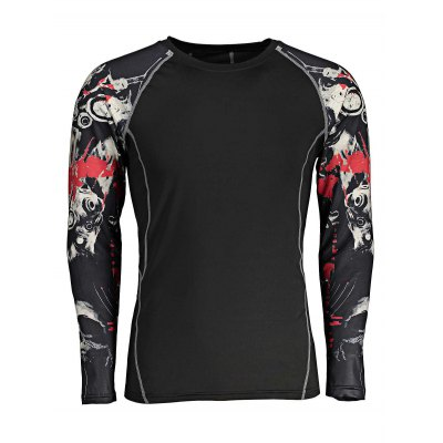 CTSmart Printed Quick-drying Workout T ShirtsWeight Lifting Clothes<br>CTSmart Printed Quick-drying Workout T Shirts<br><br>Brand: CTSmart<br>Features: Quick Dry, Breathable, High elasticity<br>Gender: Men<br>Material: Polyester, Spandex<br>Package Content: 1 x T Shirt<br>Package size: 35.00 x 30.00 x 2.00 cm / 13.78 x 11.81 x 0.79 inches<br>Package weight: 0.2500 kg<br>Product weight: 0.2100 kg<br>Size: 2XL,3XL,L,M,XL<br>Types: Long Sleeves