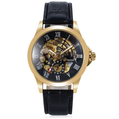 Winner 1804 Male Auto Mechanical WatchMens Watches<br>Winner 1804 Male Auto Mechanical Watch<br><br>Band material: Leather<br>Band size: 24.00 x 2.00 cm / 9.45 x 0.78 inches<br>Brand: Winner<br>Case material: Alloy<br>Clasp type: Pin buckle<br>Dial size: 4.00 x 4.00 x 1.10 cm / 1.57 x 1.57 x 0.43 inches<br>Display type: Analog-Digital<br>Movement type: Automatic mechanical watch<br>Package Contents: 1 x Winner 1804 Watch<br>Package size (L x W x H): 26.00 x 5.00 x 2.50 cm / 10.24 x 1.97 x 0.98 inches<br>Package weight: 0.0950 kg<br>Product size (L x W x H): 24.00 x 4.00 x 1.10 cm / 9.45 x 1.57 x 0.43 inches<br>Product weight: 0.0600 kg<br>Shape of the dial: Round<br>Watch style: Casual<br>Watches categories: Men<br>Water resistance : Life water resistant<br>Wearable length: 16.00 - 20.00 cm / 6.29 - 7.87 inches