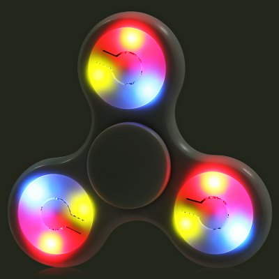 Multi-color Push Button LED Tri-wing ABS Fidget SpinnerFidget Spinners<br>Multi-color Push Button LED Tri-wing ABS Fidget Spinner<br><br>Color: White<br>Features: LED Light<br>Frame material: ABS<br>Package Contents: 1 x Fidget Spinner<br>Package size (L x W x H): 9.00 x 9.00 x 1.90 cm / 3.54 x 3.54 x 0.75 inches<br>Package weight: 0.0550 kg<br>Product size (L x W x H): 7.20 x 7.20 x 1.40 cm / 2.83 x 2.83 x 0.55 inches<br>Product weight: 0.0290 kg<br>Swing Numbers: 3<br>Type: Triple Blade