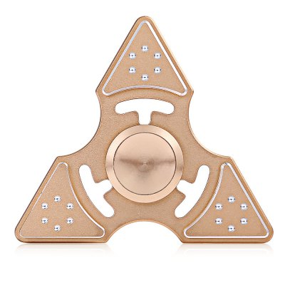 Zinc Alloy Flashing Dots Stress Relief Tri-blade Fidget SpinnerFidget Spinners<br>Zinc Alloy Flashing Dots Stress Relief Tri-blade Fidget Spinner<br><br>Center Bearing Material: Stainless Steel Bearing<br>Color: Gold<br>Frame material: Aluminum Alloy<br>Package Contents: 1 x Fidget Spinner, 1 x Storage Box<br>Package size (L x W x H): 9.20 x 9.20 x 2.40 cm / 3.62 x 3.62 x 0.94 inches<br>Package weight: 0.1000 kg<br>Product size (L x W x H): 6.40 x 6.40 x 1.20 cm / 2.52 x 2.52 x 0.47 inches<br>Product weight: 0.0420 kg<br>Swing Numbers: Tri-Bar<br>Type: Triple Blade