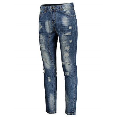 Men Skinny Jeans with Heavy Rips in BleachMens Pants<br>Men Skinny Jeans with Heavy Rips in Bleach<br><br>Material: Cotton<br>Package Contents: 1 x Pair of Jeans<br>Package size: 20.00 x 20.00 x 3.00 cm / 7.87 x 7.87 x 1.18 inches<br>Package weight: 0.6200 kg<br>Product weight: 0.5600 kg