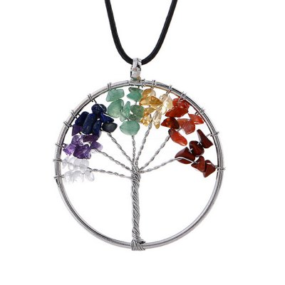 Fashion Rainbow Stone Life Tree Necklace for WomenNecklaces &amp; Pendants<br>Fashion Rainbow Stone Life Tree Necklace for Women<br><br>Color: Multi-color<br>Fabric: Alloy,Others<br>Occasions: Casual, Party<br>Package Contents: 1 x Necklace<br>Package size (L x W x H): 8.00 x 14.00 x 3.00 cm / 3.15 x 5.51 x 1.18 inches<br>Package weight: 0.0280 kg<br>Product weight: 0.0150 kg<br>Style: Casual, Cute, Fashion<br>Type: Necklaces