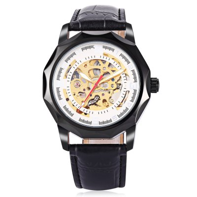 Winner H199M Male Auto Mechanical WristwatchMens Watches<br>Winner H199M Male Auto Mechanical Wristwatch<br><br>Band material: Leather<br>Band size: 25.5 x 2cm / 10.04 x 0.79 inches<br>Brand: Winner<br>Case material: Alloy<br>Clasp type: Pin buckle<br>Dial size: 4.5 x 4.5 x 1cm / 1.77 x 1.77 x 0.39 inches<br>Display type: Analog<br>Movement type: Automatic mechanical watch<br>Package Contents: 1 x Watch<br>Package size (L x W x H): 26.50 x 5.50 x 2.00 cm / 10.43 x 2.17 x 0.79 inches<br>Package weight: 0.1010 kg<br>Product size (L x W x H): 25.50 x 4.50 x 1.00 cm / 10.04 x 1.77 x 0.39 inches<br>Product weight: 0.0700 kg<br>Shape of the dial: Round<br>Special features: Luminous<br>Watch color: Black, White<br>Watch mirror: Mineral glass<br>Watch style: Business, Fashion<br>Watches categories: Male table<br>Water resistance : Life water resistant<br>Wearable length: 19.00 - 24.00cm / 7.48 - 9.45 inches