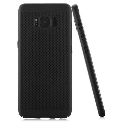 Micropore Cooling Phone CaseSamsung Cases/Covers<br>Micropore Cooling Phone Case<br><br>Color: Black<br>Compatible with: Samsung Galaxy S8 Plus<br>Features: Back Cover, Anti-knock<br>Material: PC<br>Package Contents: 1 x Phone Case<br>Package size (L x W x H): 21.50 x 13.00 x 1.80 cm / 8.46 x 5.12 x 0.71 inches<br>Package weight: 0.0390 kg<br>Product size (L x W x H): 16.00 x 7.50 x 0.80 cm / 6.3 x 2.95 x 0.31 inches<br>Product weight: 0.0160 kg<br>Style: Round Dots, Modern