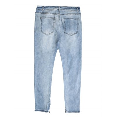 Washed Slim Fit Distressed JeansMens Pants<br>Washed Slim Fit Distressed Jeans<br><br>Color: Blue<br>Material: Cotton<br>Package Contents: 1 x Pair of Jeans<br>Package size: 40.00 x 30.00 x 2.00 cm / 15.75 x 11.81 x 0.79 inches<br>Package weight: 0.5000 kg<br>Product weight: 0.4580 kg<br>Size: 30,32,34,36