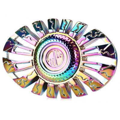 Thor Oval Rainbow Hand Spinner Decompression Toy