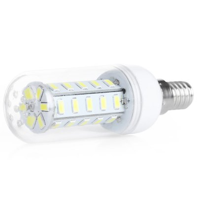 E14 7W LED Corn BulbCorn Bulbs<br>E14 7W LED Corn Bulb<br><br>Available Light Color: Warm White<br>CCT/Wavelength: 3000-3500K<br>Emitter Types: SMD 5730<br>Features: Low Power Consumption, Long Life Expectancy, Energy Saving<br>Function: public places, Home Lighting, Outdoor lighting, Commercial Lighting, Outdoor Lighting,  playing fields,  stage lighting,  including building and landscape beautification<br>Holder: E14<br>Luminous Flux: 650LM<br>Output Power: 7W<br>Package Contents: 1 x LED Corn Bulb<br>Package size (L x W x H): 11.00 x 4.20 x 4.50 cm / 4.33 x 1.65 x 1.77 inches<br>Package weight: 0.0450 kg<br>Product size (L x W x H): 10.00 x 3.10 x 3.10 cm / 3.94 x 1.22 x 1.22 inches<br>Product weight: 0.0280 kg<br>Sheathing Material: PC, Aluminum<br>Total Emitters: 36<br>Type: Corn Bulbs<br>Voltage (V): AC 220<br>Wattage Range: 5-10W