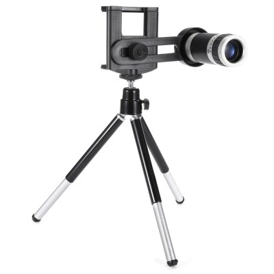 Universal 8X Zoom Telephoto LensiPhone Lenses<br>Universal 8X Zoom Telephoto Lens<br><br>Lens type: Long Focal(Telephoto Lens)<br>Magnification ?Telephoto Lens ): 8X<br>Material: Optical glass<br>Package Contents: 1 x Telephoto Lens, 1 x Tripod Stand, 1 x Lanyard, 1 x Phone Holder, 2 x Cleaning Cloth, 1 x English Manual<br>Package size (L x W x H): 14.80 x 8.20 x 7.70 cm / 5.83 x 3.23 x 3.03 inches<br>Package weight: 0.2050 kg<br>Product size (L x W x H): 7.70 x 2.90 x 2.90 cm / 3.03 x 1.14 x 1.14 inches<br>Product weight: 0.0450 kg