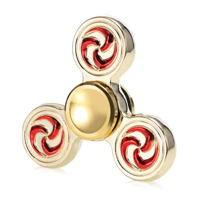 Tri-blade Fire Wheel Gold Fidget Spinner EDC ADHD Focus Toy
