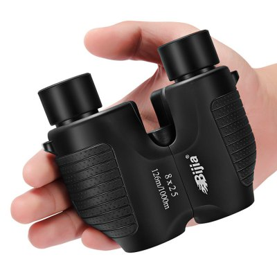 BIJIA Portable 8 x 25mm Binocular Anti-slip HD TelescopeBinoculars and Telescopes<br>BIJIA Portable 8 x 25mm Binocular Anti-slip HD Telescope<br><br>Amplification Factor: 8X<br>Body Coated with Rubber: Yes<br>Brand: BIJIA<br>Coating Film: FMC<br>Color: Black<br>Exit pupil diameter: 3mm<br>Exit pupil distance: 20mm<br>Eyepiece Diameter: 16mm<br>Features: Anti-slip<br>Field Angle(degree): 8.5 degree<br>Field of view: 126 / 1000m<br>For: Beach, Bird watching, Hunting, Travel, Theater<br>Material: Rubber<br>Objective Lens (mm) : 25mm<br>Optical Material: BK-7<br>Package Contents: 1 x BIJIA Binocular, 1x Cleaning Cloth, 1 x Storage Bag, 1 x English User Manual<br>Package size (L x W x H): 13.50 x 13.50 x 8.00 cm / 5.31 x 5.31 x 3.15 inches<br>Package weight: 0.4800 kg<br>Prism System: Porro System<br>Product size (L x W x H): 11.50 x 9.60 x 6.00 cm / 4.53 x 3.78 x 2.36 inches<br>Product weight: 0.3500 kg<br>Type: Binocular Telescope