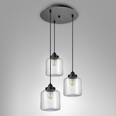 Retro E27 Glass Pendant Light Cafe Restaurant Hotel Dining Hall