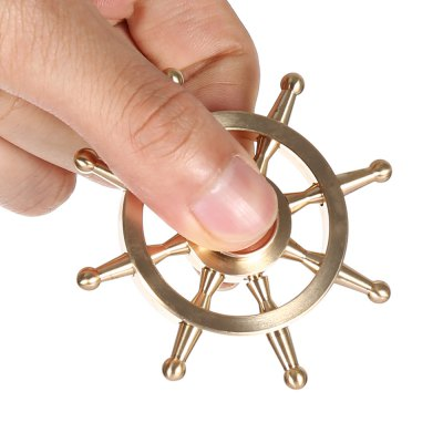 Pure Copper Ship Wheel Fidget Spinner EDC ADHD Focus ToyFidget Spinners<br>Pure Copper Ship Wheel Fidget Spinner EDC ADHD Focus Toy<br><br>Color: Copper<br>Frame material: Copper<br>Package Contents: 1 x Fidget Spinner, 1 x Package Box<br>Package size (L x W x H): 9.50 x 9.50 x 2.30 cm / 3.74 x 3.74 x 0.91 inches<br>Package weight: 0.1370 kg<br>Product size (L x W x H): 6.70 x 6.70 x 0.70 cm / 2.64 x 2.64 x 0.28 inches<br>Product weight: 0.0640 kg<br>Type: Steering Wheel