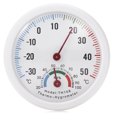 Mini Portable Thermometer / Hygrometer for Indoor UseTesters &amp; Detectors<br>Mini Portable Thermometer / Hygrometer for Indoor Use<br><br>Package Contents: 1 x Temperature and Humidity Monitor<br>Package size (L x W x H): 9.00 x 9.00 x 2.50 cm / 3.54 x 3.54 x 0.98 inches<br>Package weight: 0.0510 kg<br>Product size (L x W x H): 7.50 x 7.50 x 2.00 cm / 2.95 x 2.95 x 0.79 inches<br>Product weight: 0.0240 kg<br>Range: -30-50 Degree Celsius<br>Temperature Type: Celsius