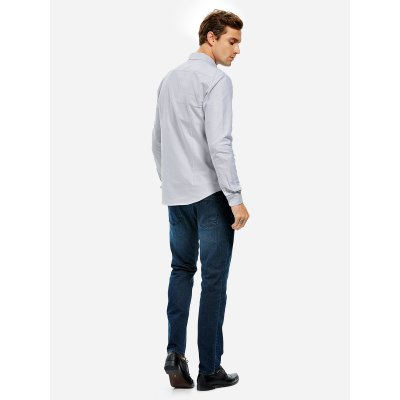 ZANSTYLE Men Gray Cotton ShirtMens Shirts<br>ZANSTYLE Men Gray Cotton Shirt<br>