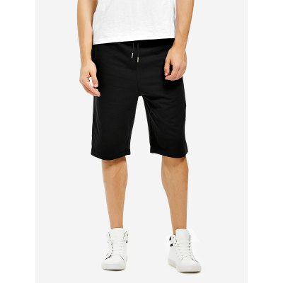 ZANSTYLE Men Sweatpants Black Shorts