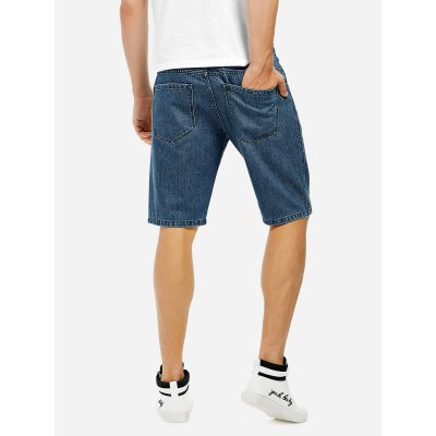 ZANSTYLE Men Knee Length Denim ShortsMens Shorts<br>ZANSTYLE Men Knee Length Denim Shorts<br>