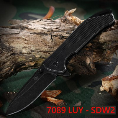 Sanrenmu 7089 LUY - SDW2 Folding Knife with Clip and Liner Lock