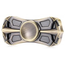 Retro Dual Bar Copper Hand Spinner Stress ADHD Relief Toy