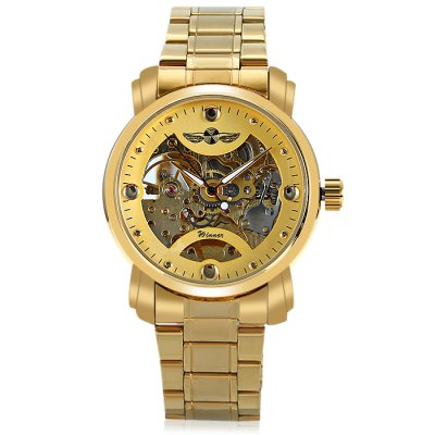 Winner H005M Men Auto Mechanical WatchMens Watches<br>Winner H005M Men Auto Mechanical Watch<br><br>Band material: Stainless Steel<br>Band size: 22 x 1.8cm / 8.66 x 0.71 inches<br>Brand: Winner<br>Case material: Alloy<br>Clasp type: Sheet folding clasp<br>Dial size: 4 x 4 x 1cm / 1.57 x 1.57 x 0.39 inches<br>Display type: Analog<br>Movement type: Automatic mechanical watch<br>Package Contents: 1 x Watch<br>Package size (L x W x H): 12.00 x 5.00 x 2.00 cm / 4.72 x 1.97 x 0.79 inches<br>Package weight: 0.1280 kg<br>Product size (L x W x H): 22.00 x 4.00 x 1.00 cm / 8.66 x 1.57 x 0.39 inches<br>Product weight: 0.0970 kg<br>Shape of the dial: Round<br>Special features: Luminous<br>Watch mirror: Mineral glass<br>Watch style: Business, Fashion<br>Watches categories: Male table<br>Water resistance : Life water resistant
