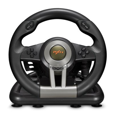 PXN - V3II USB Game Racing WheelGame Accessories<br>PXN - V3II USB Game Racing Wheel<br><br>Brands: PXN<br>Compatible with: PC<br>Game Accessories Type: Gaming Steering Wheel<br>Model: V3II<br>Package Contents: 1 x Game Racing Wheel, 1 x Linear Pedal, 1 x Fixed Mount for Racing Wheel, 1 x Driver CD, 1 x English User Manual<br>Package size: 27.00 x 33.00 x 25.50 cm / 10.63 x 12.99 x 10.04 inches<br>Package weight: 2.4500 kg<br>Product size: 26.00 x 32.00 x 24.50 cm / 10.24 x 12.6 x 9.65 inches<br>Product weight: 2.3600 kg